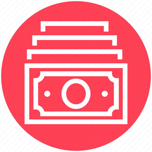 Bank notes, cash, currency, dollar notes, finance, money, payment icon - Download on Iconfinder