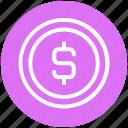 bit coin, business, coin, dollar, finance, money, sign