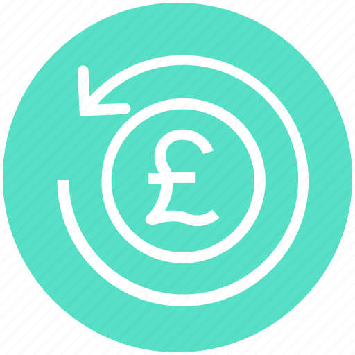 coin, finance, financial, payment, pound, refresh, sync icon