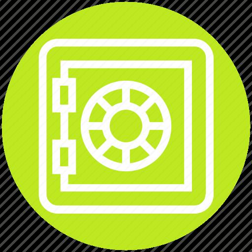 deposit, money, safe, safety, secure, strongbox, vault icon