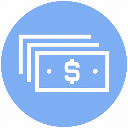 Finance, money, cash, bank notes, currency, dollar notes, payment icon