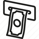 automatic, banking, cash, finance, machine, money, withdrawal icon