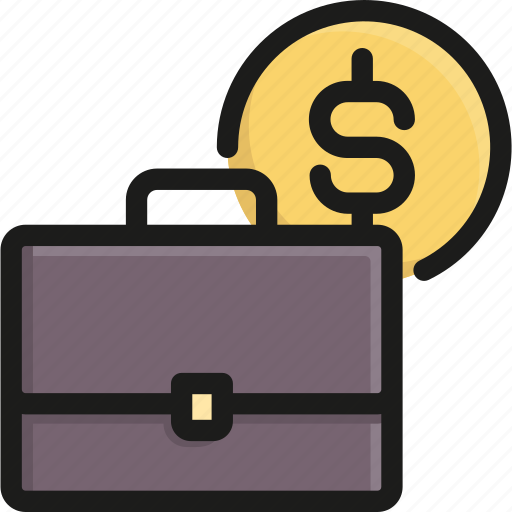 and, bank, briefcase, business, coin, finance, money icon