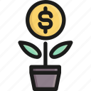 business, finance, growth, investment, money, success, up icon