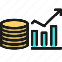 business, finance, graph, growth, money, success, up icon
