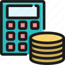 calculate, currency, exchange, finance, investment, rate, the icon