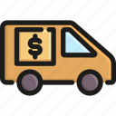 bank, business, car, money, transportation, truck, vehicle icon