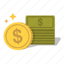 budget, capital, cash, earn, fund, funds, money icon