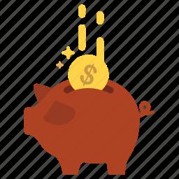 cash, finance, money, piggy bank, saving, savings, savings account icon