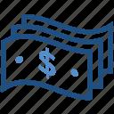 cash, dollar, dollar notes, finance, money, payment