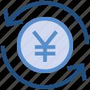 arrows, cash, coin, currency, financial, money, yen