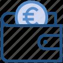 coin, euro, finance, money, payment, purse, wallet