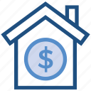 dollar, finance, home, house, insurance, property, property value