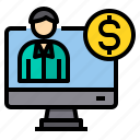 analytic, banking, currency, money, payment icon