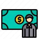 banking, cash, currency, investment, money, payment icon