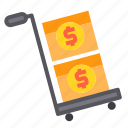 banking, cart, currency, money, payment icon