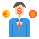 banking, currency, exchange, investment, money, payment icon