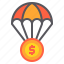 banking, currency, investment, money, payment icon