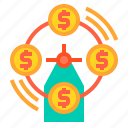 banking, currency, loan, money, payment icon