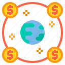 banking, currency, money, payment, world icon