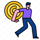 currency, person, carry, payment, receive, money, cash icon