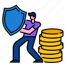 guard, insurance, investment, money, protection, safety icon