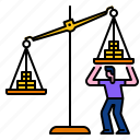 currency, balance, investment, scale, weight, profit, money icon