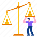 balance, profit, investment, currency, weight, scale, money icon