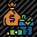 money, bag, banknote, sack, cash