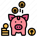 savings, coin, money, piggy, bank, cash
