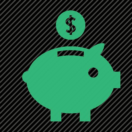 business, cash, coin, coupon, dollar, money, piggy, sale, save icon