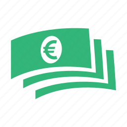 business, cash, euro, finance, money, shopping icon
