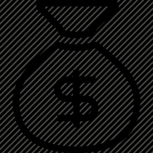 bag, budget, cash, dollar, money bag icon