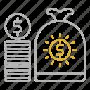 bundle, cash, investments, money icon