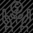 business, hand, money, plant icon