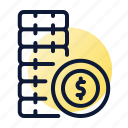 coins, pile, savings icon