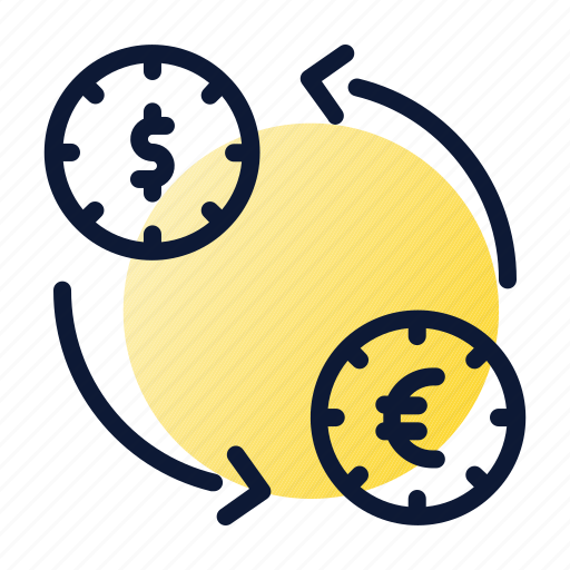 coins, exchange, transaction icon