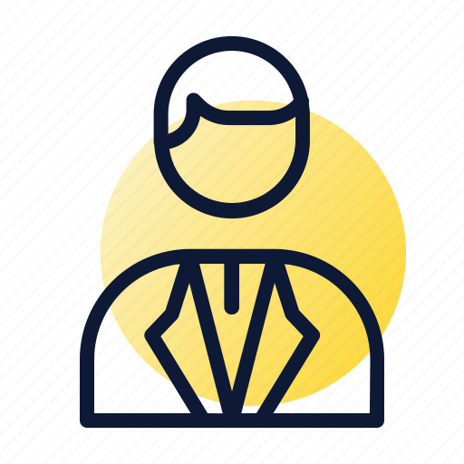 banker, person, suit icon