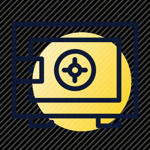 deposit, money, safe, savings, trezor icon