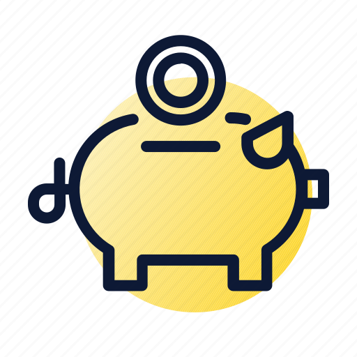 piggy bank, saving, savings icon