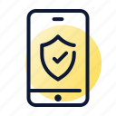 security, smartphone, wallet icon