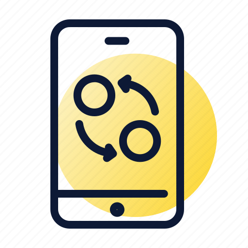 exchange, mobile, smartphone, transaction icon