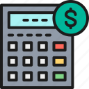 accounting, bank, banking, bookkeeping, calculator, coin, money icon