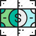 banking, business, cash, check, coin, money, verification icon