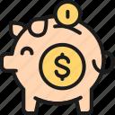 bank, coin, money, piggy, save, wallet