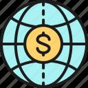 banking, cash, coin, finance, global, money, world