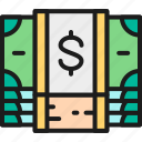 banking, bundle, business, cash, coin, dollar, money icon