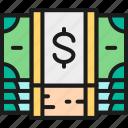 banking, bundle, business, cash, coin, dollar, money