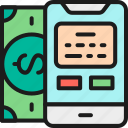 coin, credit, method, money, payment, pos, terminal icon