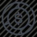 chart, dollar, finance, money, pie, report, stats icon
